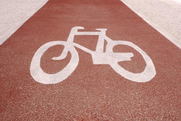 Sign bicycle path Premium Photo