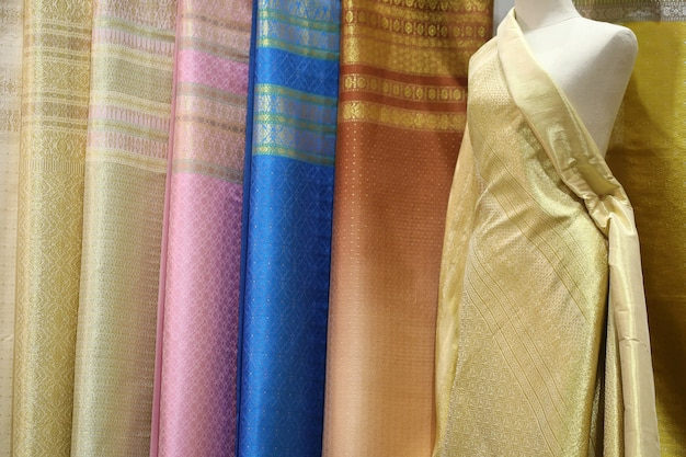 Silk texture , thai style Premium Photo