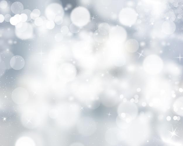 Silver bokeh lights background Free Photo