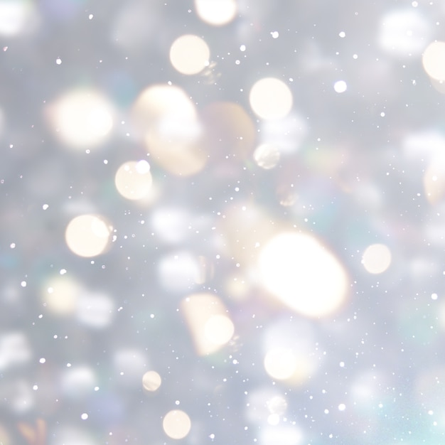 Silver christmas background with bokeh lights Photo | Free Download