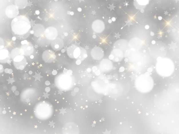 Silver christmas background Free Photo