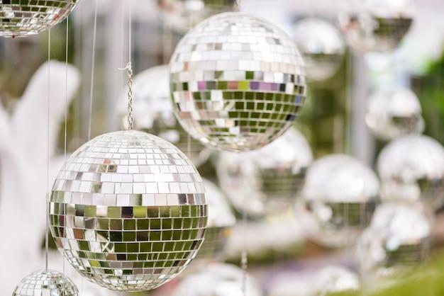Silver disco mirror ball Premium Photo