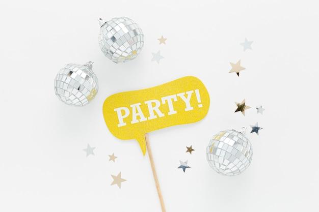 パーティーのためのシルバーグローブ装飾 無料写真