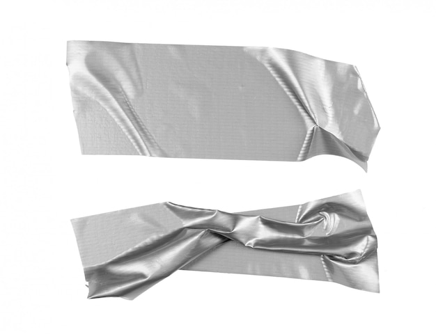 Silver tape selection isolated on white Premium Photo