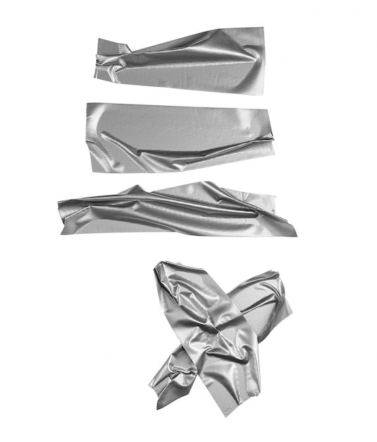 Silver tape selection isolated Premium Photo