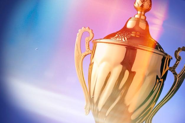 Silver trophy prize Premium Photo