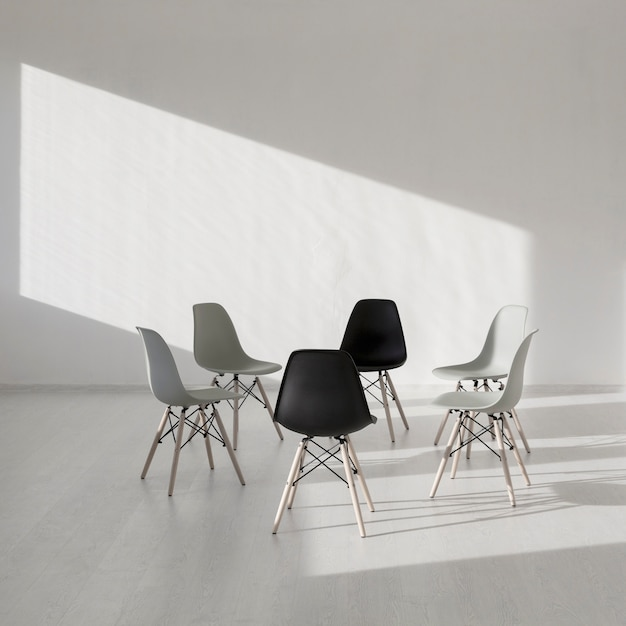 Simple chair in a white clinic room Free Photo