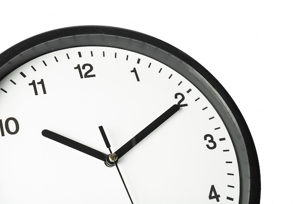 Simple classic black and white round wall clock Premium Photo