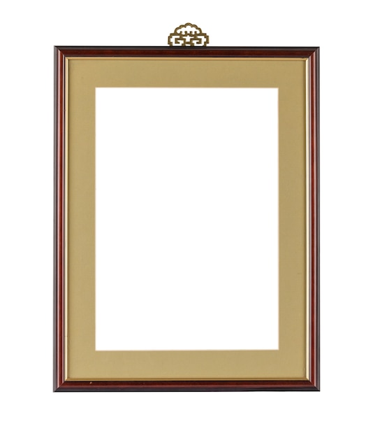 Simple frame with dark borders under the lights isolated on a white background Free Photo