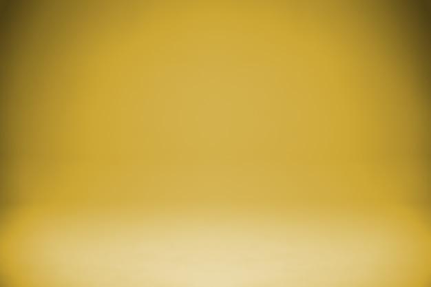 Simple gold gradient studio light background Premium Photo