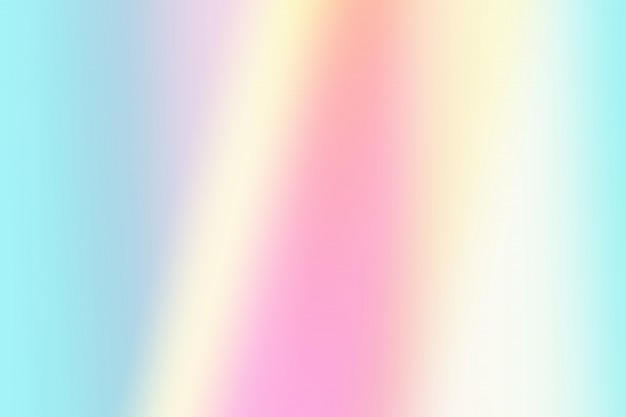 Simple gradient light pink, blue and yellow pastel holographic background Premium Photo