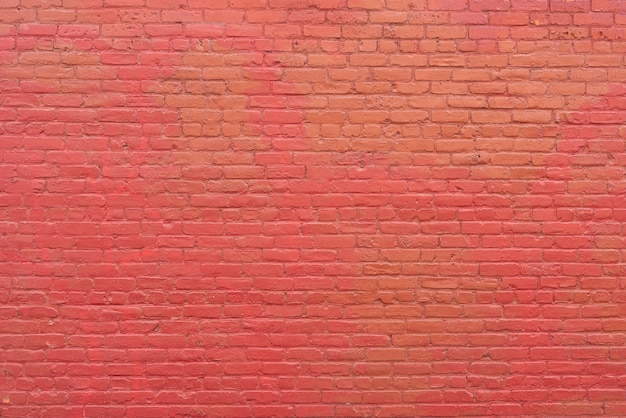 Simple red brick wall background Premium Photo