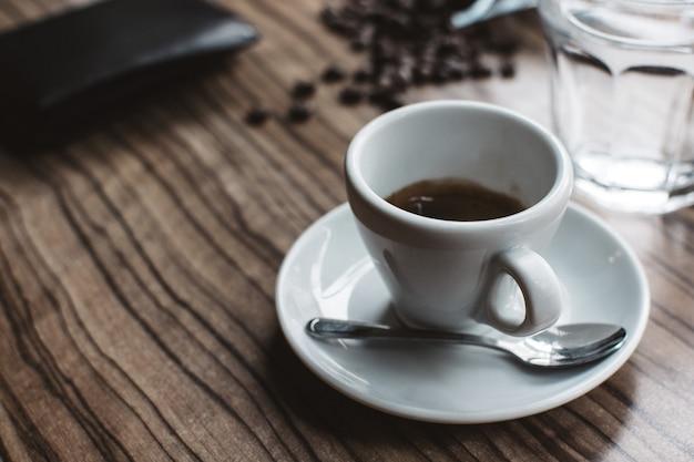 Simple single shot espresso Free Photo