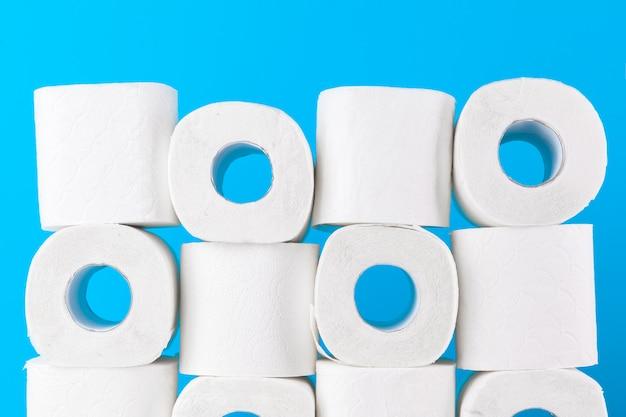 Simple toilet paper pile Premium Photo