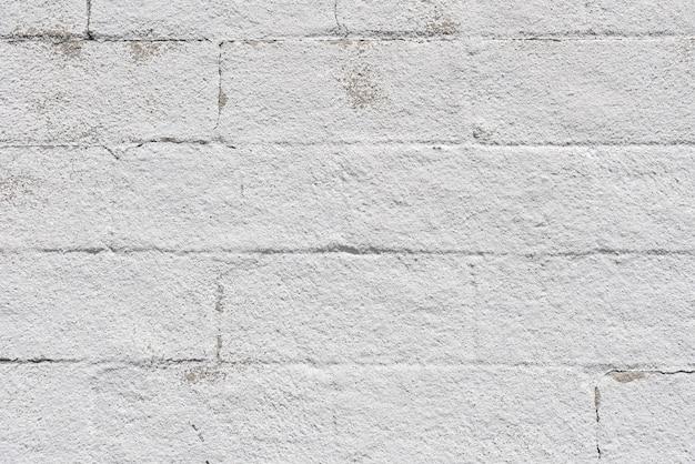 シンプルな白いレンガ壁の背景 無料写真