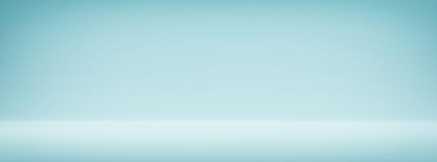 간단한 와이드 블루 빈티지 그라데이션 추상적 인 배경 넓은 배너 배경 프리미엄 사진