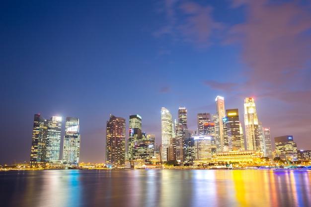 Singapore city downtown Premium Photo