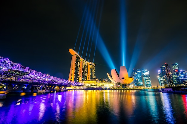 Singapore city skyline Premium Photo
