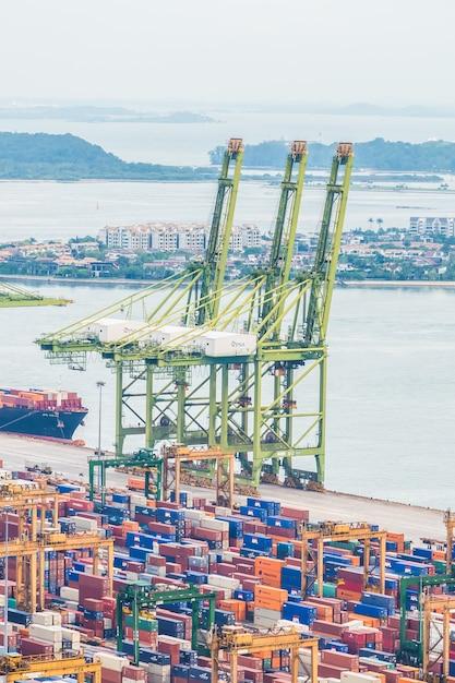 Singapore shipping port Free Photo