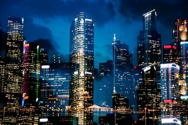 Singapore skyline Free Photo