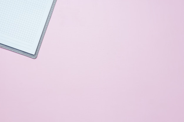 Single simple empty white notebook with a blank for drawing or writing Premium Photo