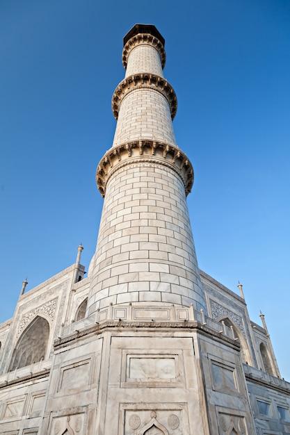 Single taj mahal tower Premium Photo