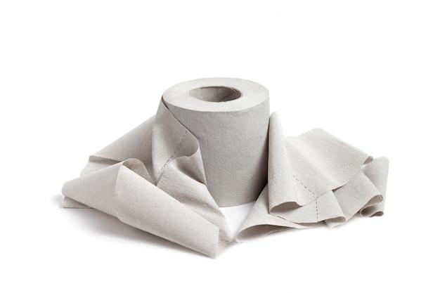 Single toilet paper Premium Photo
