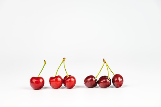 Six delicious cherries Free Photo
