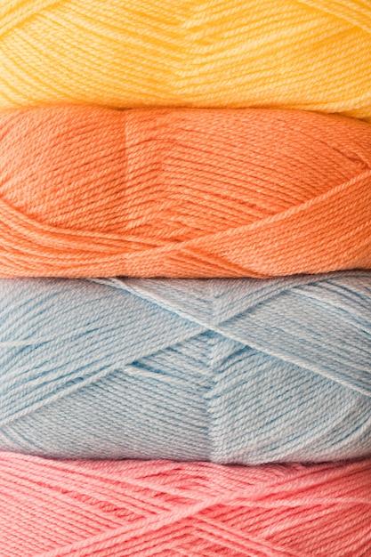 Skeins of soft yarn Free Photo