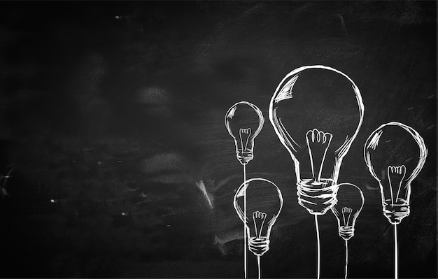 Sketch many bulbs background Free Photo