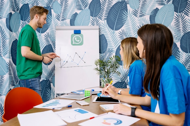 Skillful people planning on social media applications Free Photo