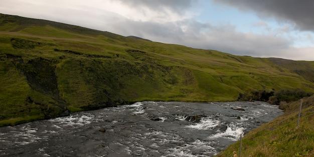 Skoga river whitewater in steep river valley Premium Photo