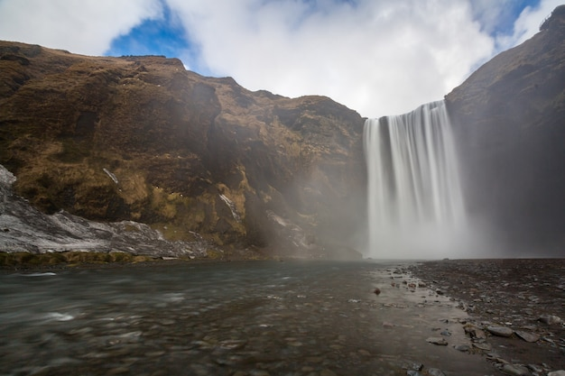 Skogafoss waterfall iceland Premium Photo