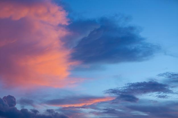 日没時の空 無料写真