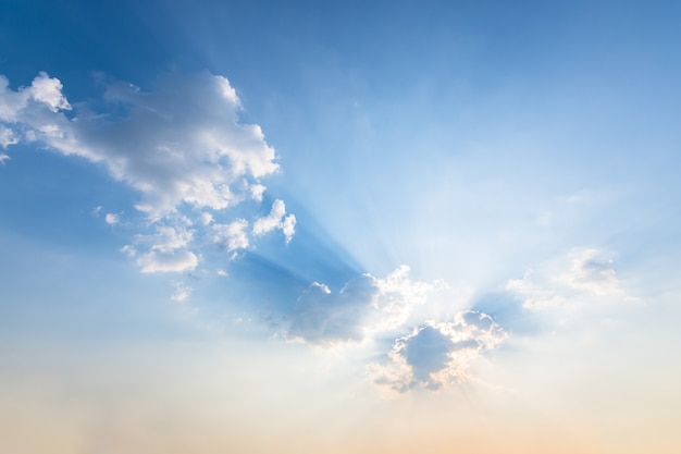 Sky background, clouds and sun light Premium Photo