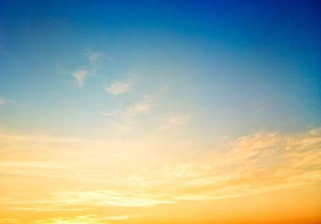 Sky beautiful sunset background in twilight time, colorful scene, amazing nature landscape image Premium Photo