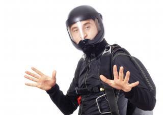 Skydiver   helmet Free Photo