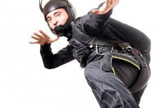 Skydiver , joy, isolated Free Photo
