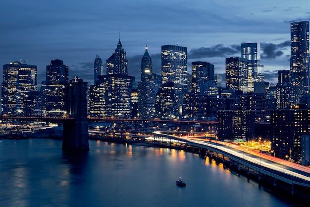 Skyline del centro di new york, new york, usa Foto Gratuite