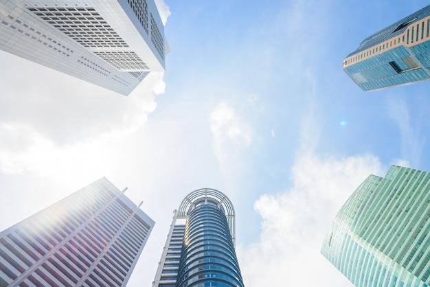 Skyscraper building in singapore Free Photo