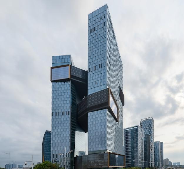The skyscraper is in shenzhen, china Premium Photo
