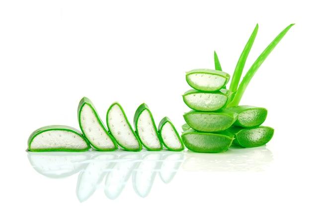 Slice aloe vera a very useful herbal medicine for skin care and hair care Premium Photo