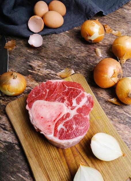 肉のスライス 無料写真