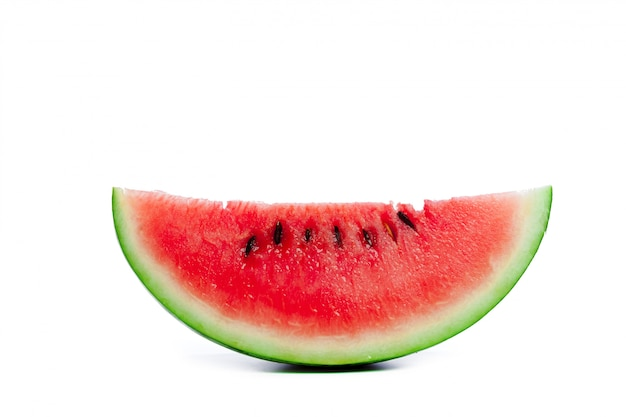 Slice of watermelon on white background Premium Photo
