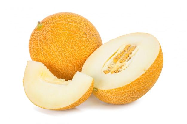 Sliced melon isolated Premium Photo