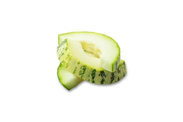 Sliced unusual melon. Premium Photo