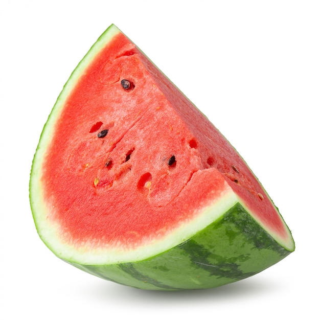 Sliced of watermelon isolated over white background. Premium Photo