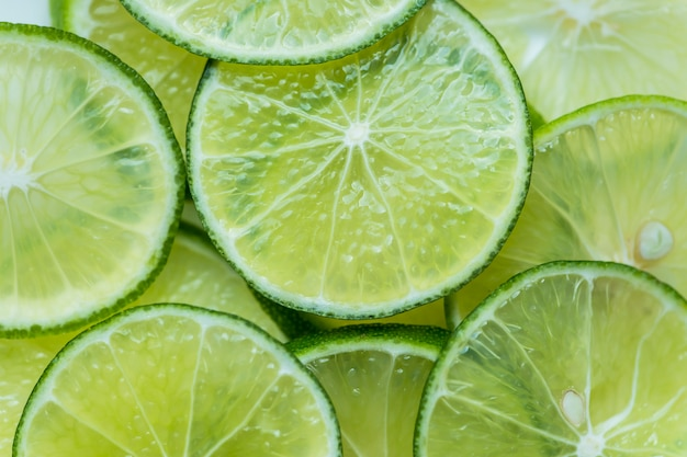 Slices of freshly cut lime Free Photo