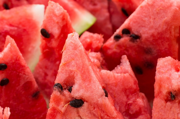 Slices of a ripe watermelon Premium Photo
