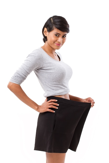 Slim woman with successful weight loss Premium Photo